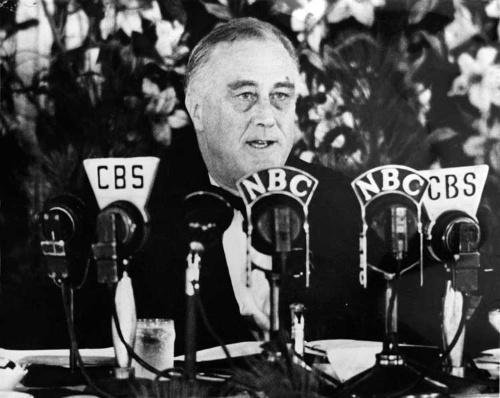 フランクリン・D・ルーズベルト米第32代大統領 Photo Researchers/Getty Images
