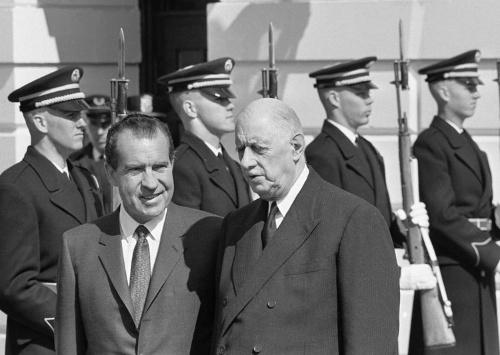 1969年3月31日、ニクソンとド・ゴール(AP/アフロ)