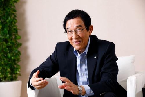 J.フロントリテイリングの奥田務特別顧問(写真/竹井俊晴)