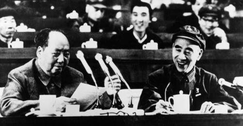 1969年の中国共産党第9回全国代表大会で、毛沢東の「親密な戦友」林彪は自らに反対票を投じた(写真:Ullstein bild/アフロ)