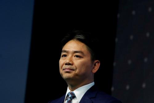 米国で強姦容疑で逮捕されたことが報じられた京東集団の劉強東CEO。2017年6月撮影(写真= ロイター/アフロ)