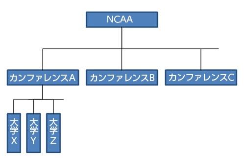 ●3層構造のNCAA