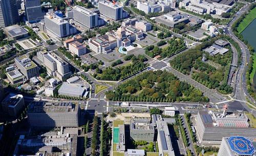 「縦割り」と言われてきた千代田区霞が関の官庁街(写真手前)。中央に見えるのは国会議事堂(写真:PIXTA)