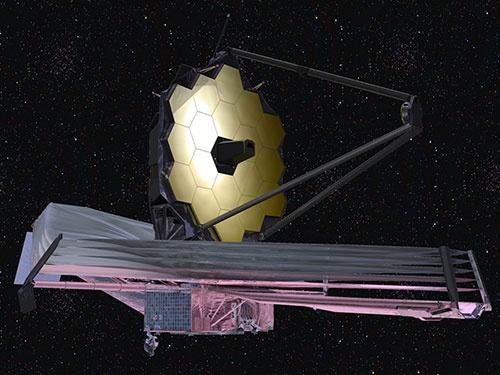 ジェイムズ・ウェッブ宇宙望遠鏡想像図(Image NASA)