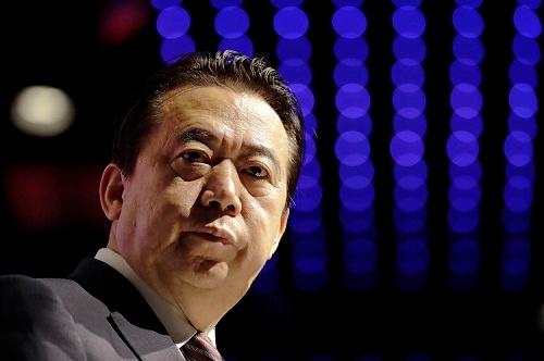 中国で忽然と姿を消した孟氏=2017年7月シンガポールで撮影(写真:AP/アフロ)