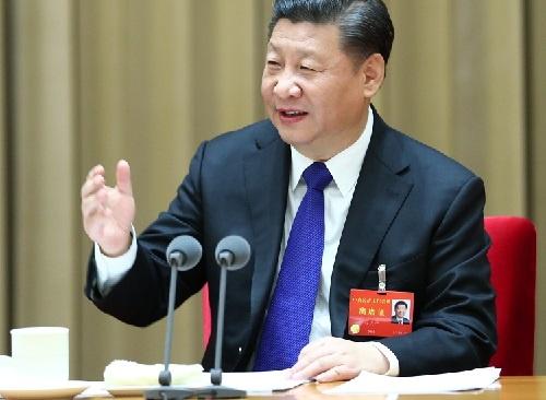 前回の中国・中央経済工作会議に出席した習近平国家主席。2017年12月18日撮影(写真:新華社/アフロ)