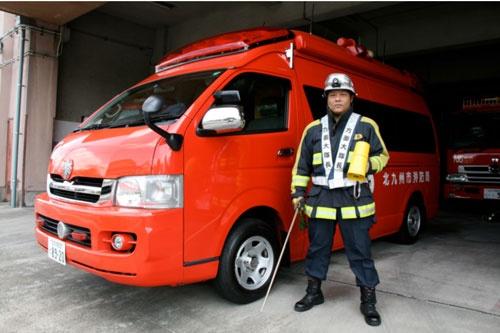 北九州市緊急消防援助隊・小清水勉隊長、通常業務は北九州市八幡西消防署警防第三課担当課長(写真提供・北九州市消防局)
