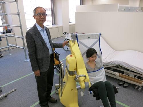 介護ロボット「SASUKE」を開発したマッスルの玉井博文社長。介護施設から注文が殺到している