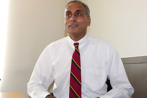 米グーグルのプラバッカー・ラガバン副社長。企業向けサービスの技術を統括している