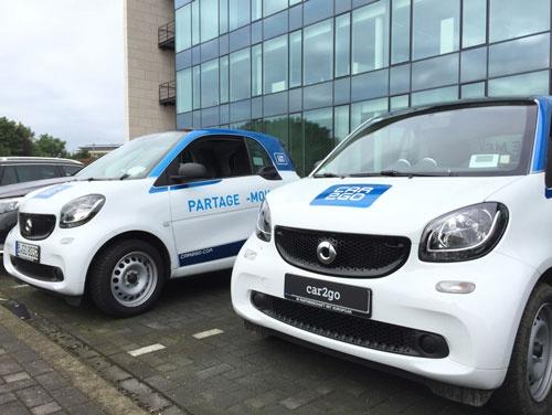 今年10月にはベルギー・ブリュッセルでサービスを開始したダイムラーのカーシェアリングサービス「car2go」
