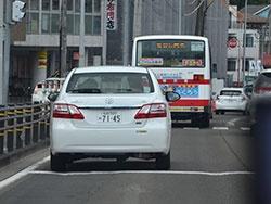 社員が運転する営業車で、仙台市内を走り回った。