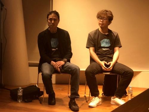 ジャコーレの平戸CEO(左)とアドイノベーションの石森社長