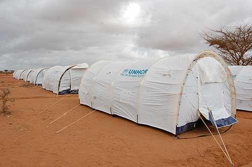 ソマリア難民用のシェルター
