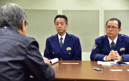 山下桂一警視(左)と村田尚徳警部
