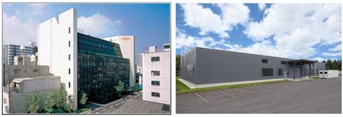 大阪のエスペック本社(左)と宇都宮のバッテリー安全認証センター