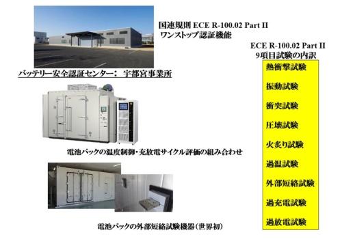 エスペックの「バッテリー安全認証センター」の機能と国連規則