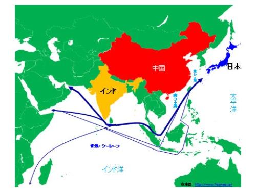 図1:関係国配置図