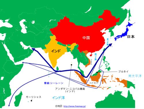 図1:インドが衛星追跡局を整備しつつある国々(オレンジ色)