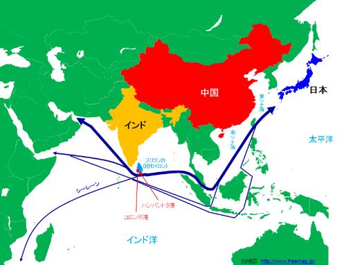 図2:スリランカの位置
