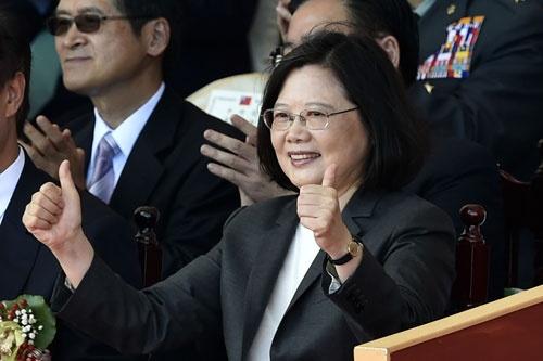 台湾の蔡英文総統。中国は同政権の孤立化を図っている(写真:AFP/アフロ)