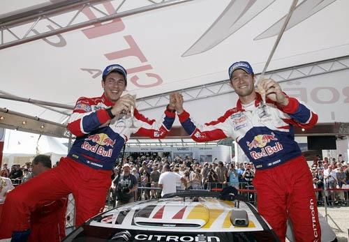 キャリアをスタートしたチーム、シトロエンに復帰するオジェ(写真右)。これが最後の契約だという ©Citroen Racing