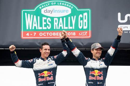 タイトルが遠のいたように思えたものの、GBで優勝して再び選手権争いに復帰したオジェ/イングラシア ©Red Bull Content Pool