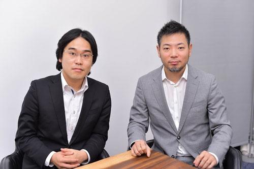 斎藤事業統括本部長(左)と高野社長