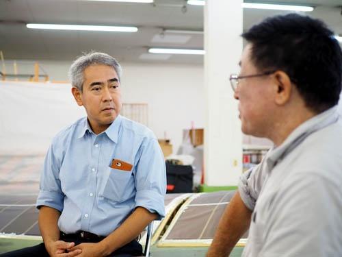 四戸社長(写真左)と松浦氏