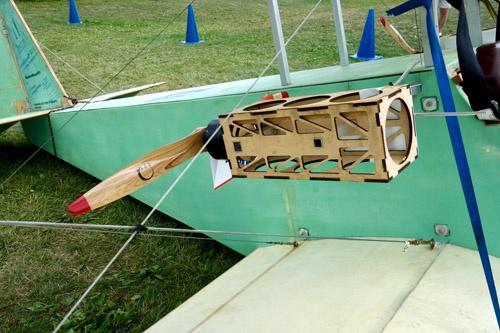 ホームビルト機のレベルでも電動モーターの使用が始まっている。これはウルトラライトのカテゴリーの機体。