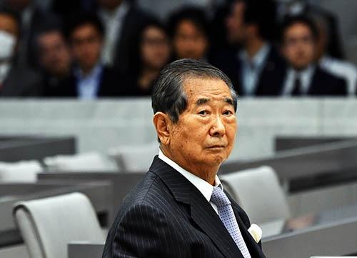 2017年3月、都議会の調査特別委員会(百条委員会)の証人として出席した石原慎太郎元東京都知事は、「脳梗塞を患った後遺症で、平仮名すらも忘れました」と告白した。(写真:Natsuki Sakai/アフロ)