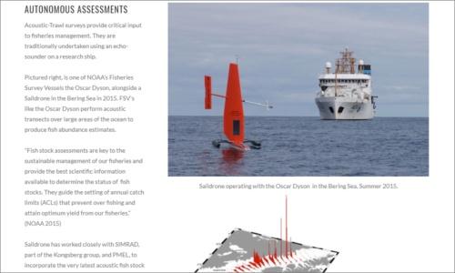 Saildroneが開発する海洋ドローン(キャプチャ画像は同社のWebサイトより)