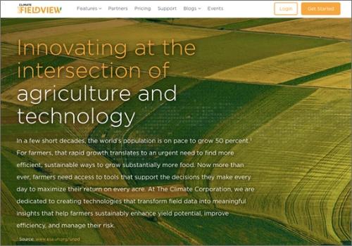 The Climate CorporationのWebサイト