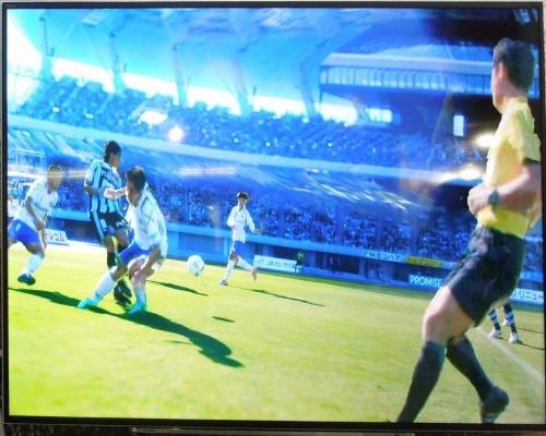 キヤノンが開発した「自由視点映像生成システム」のデモ画面(画像:キヤノン)