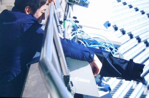 スタジアムに30台もしくは60台の4Kビデオカメラを設置(写真:キヤノン)