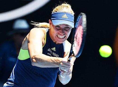 女子プロテニスのアンゲリク・ケルバー選手(ドイツ)は、2018年1月に開催された全豪オープンでベスト4まで勝ち進んだ (写真:AFP/アフロ)