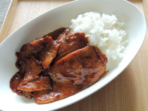 豚のシート肉のオイスター丼