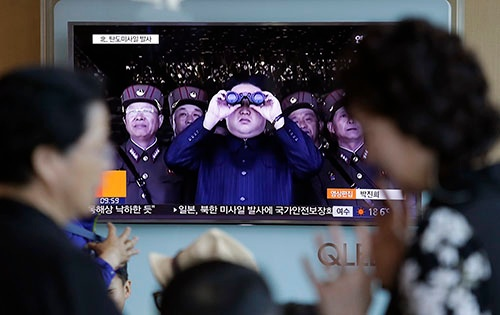 北朝鮮の意図はどこにあるのか…(写真=AP/アフロ)