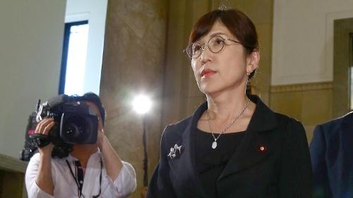 辞任の意向を固めた稲田防衛相(写真:日刊現代/アフロ )