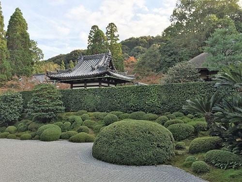 一休寺庭園。石川丈山が、共作で関わったと伝わる