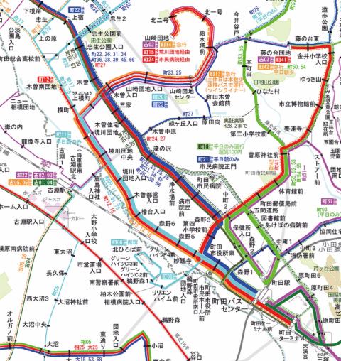 Bus Service Map (愉会三丁目氏による個人サイト)