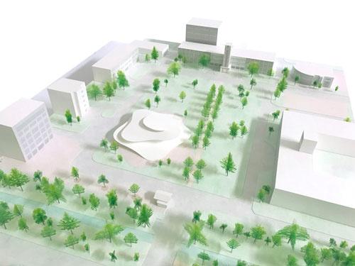 「ストライプ講座」の拠点となるストライプホールを建設予定