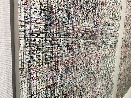 横溝美由紀さんの作品を間近で見たところ