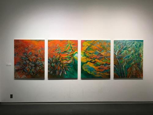 堀由樹子《森の午後》(2016年、4点組)展示風景