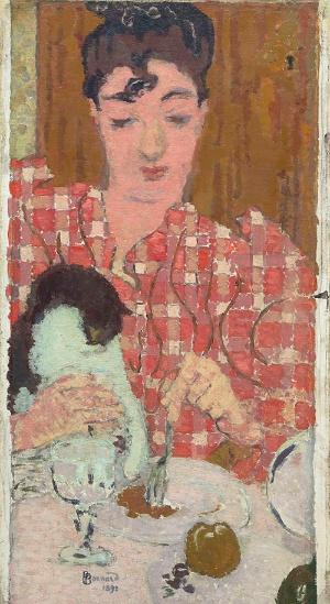 ピエール・ボナール《格子柄のブラウス》(1892年、油彩、カンヴァス © RMN-Grand Palais (musée d'Orsay) / Hervé Lewandowski / distributed by AMF  )(無断転載禁止)