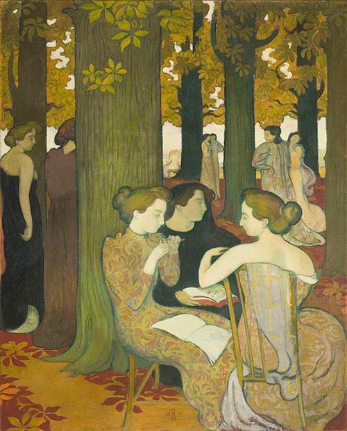 モーリス・ドニ《ミューズたち》(1893年、油彩、カンヴァス © Musée d'Orsay, Dist. RMN-Grand Palais / Patrice Schmidt / distributed by AMF )(無断転載禁止)