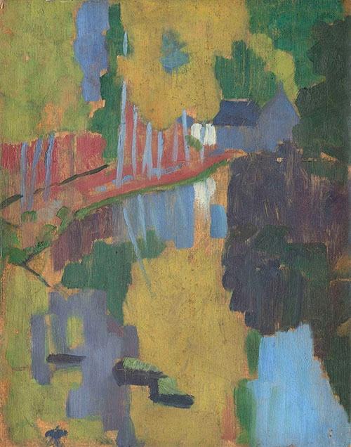 ポール・ゴーガン《「黄色いキリスト」のある自画像》(1890〜91年、油彩、カンヴァス © RMN-Grand Palais (musée d'Orsay) / René-Gabriel Ojéda / distributed by AMF )(無断転載禁止)