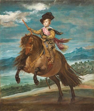 ディエゴ・ベラスケス《王太子バルタサール・カルロス騎馬像》(1635年頃 マドリード、プラド美術館蔵 © Museo Nacional del Prado)