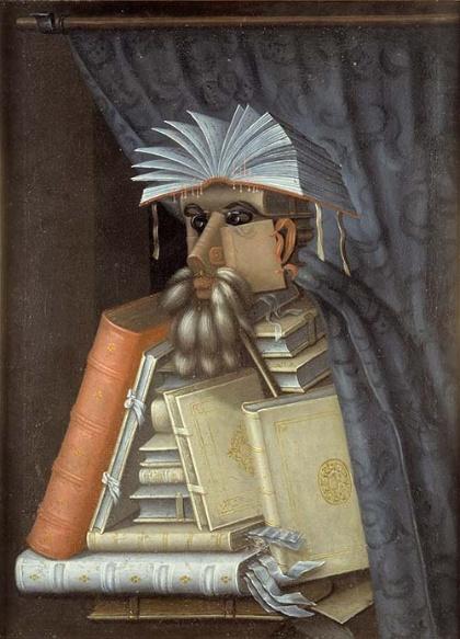 ジュゼッペ・アルチンボルド《司書》(油彩、カンヴァス、スコークロステル城蔵 ©Skokloster Slott/Samuel Uhrdin)