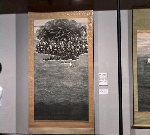 《南海之図》(昭和30年代頃、愛知県美術館蔵)の展示風景
