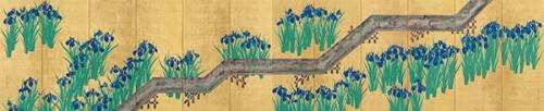 酒井抱一《八ツ橋図屏風》(江戸時代、出光美術館蔵)